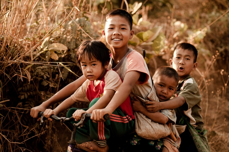 Thai children smiling